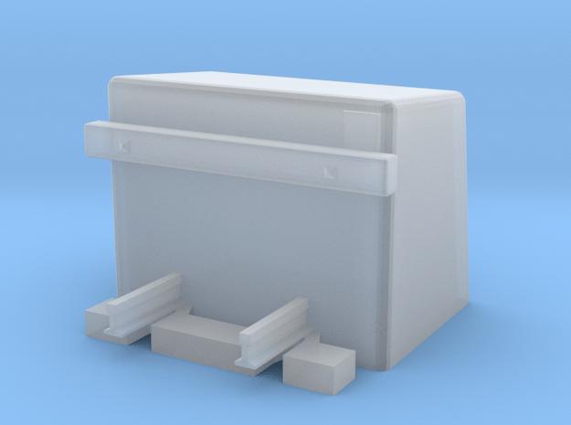 Betonprellbock mit Gleisende Buffer Stop in Smooth Fine Detail Plastic