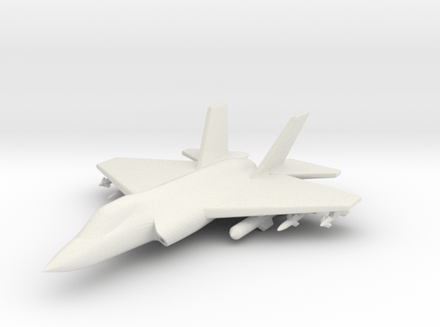 1/285 (6mm) F-35C w/Ordnance in White Natural Versatile Plastic