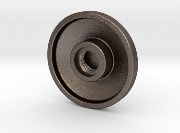 Button Revision 5-22.1 in Polished Bronzed Silver Steel