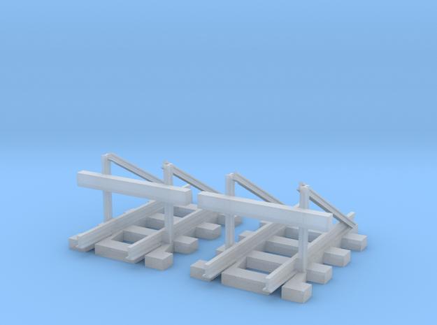 2 H0e sächsischer Standard Prellbock  in Smooth Fine Detail Plastic