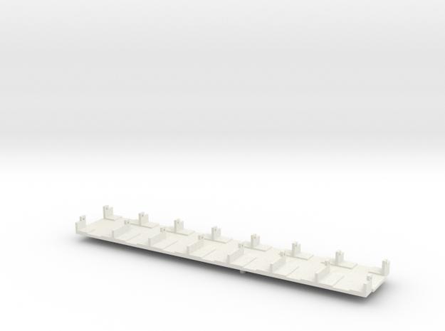 OEG Rastatter Trieb- und Beiwagen Inneneinrichtung in White Natural Versatile Plastic