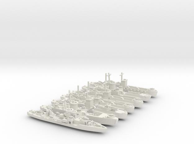 LCI(L) Various 1/600 scale in White Natural Versatile Plastic