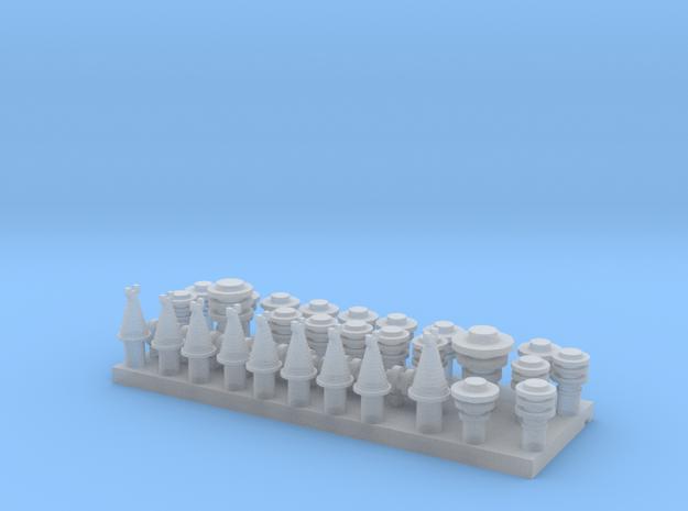 Diverse Isolatoren 1zu160 in Smooth Fine Detail Plastic