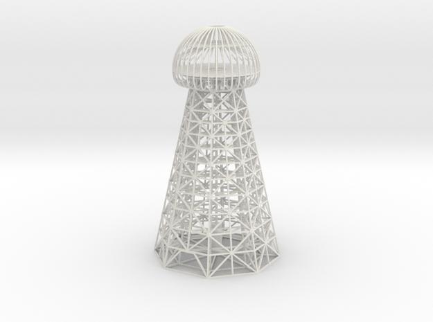 Tesla Tower Replica in White Natural Versatile Plastic