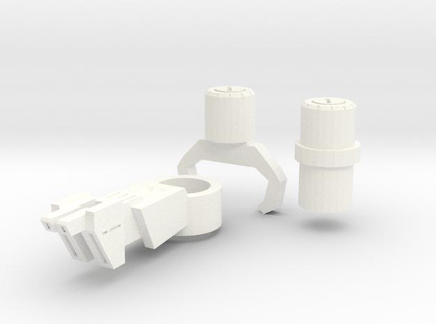 TFP Resonance Blaster (with 5mm peg) in White Processed Versatile Plastic