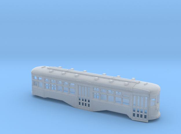 TT 1:120 Scale B&QT 8000-Series Trolley Shell in Smooth Fine Detail Plastic