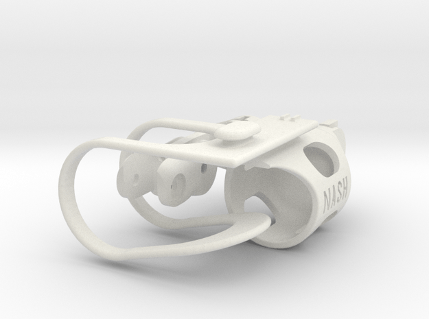 Ring Finger in White Natural Versatile Plastic