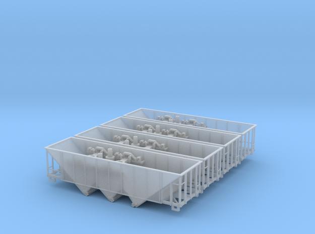 EBT 3bay 4pk w/ Handrails in Smooth Fine Detail Plastic