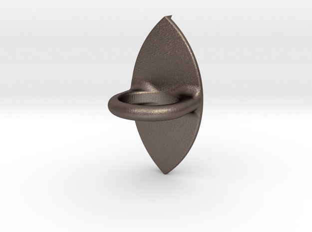 IMPRENTA3D Ring with eye Ø16 in Polished Bronzed Silver Steel