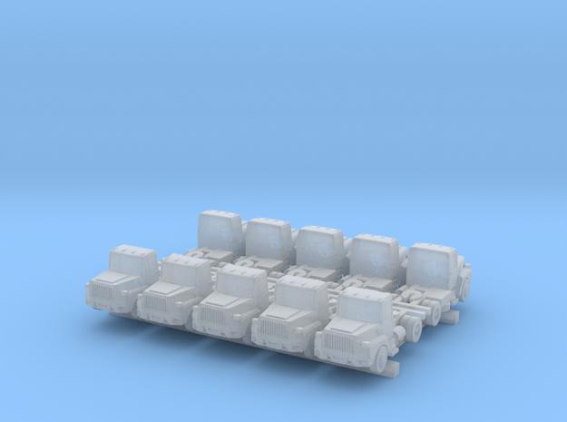 Mack Semi Truck Set - 1:700scale in Smooth Fine Detail Plastic