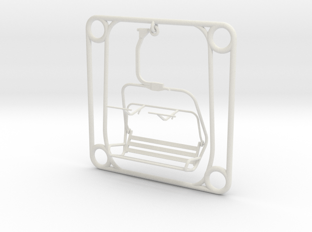 Tile - Ski Lift Chair in White Natural Versatile Plastic