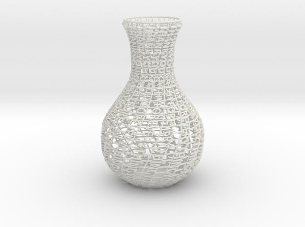 Thank You Vase in White Natural Versatile Plastic