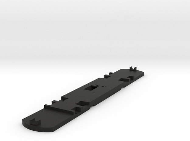 HO Scale Floor for 51' Standard Streetcar in Black Natural Versatile Plastic