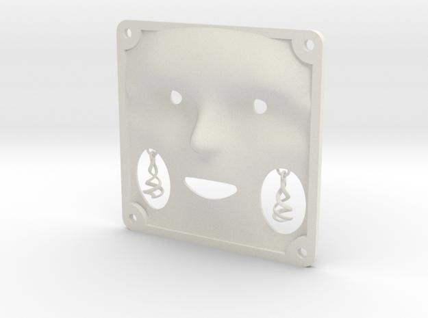 Tile Ear Ring in White Natural Versatile Plastic