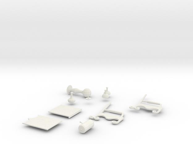 Macchina del tempo - 3 di 6 in White Natural Versatile Plastic