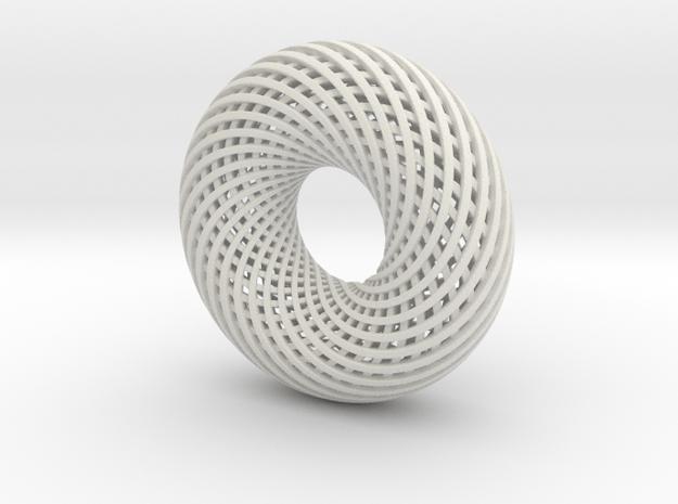 Tourus in White Natural Versatile Plastic
