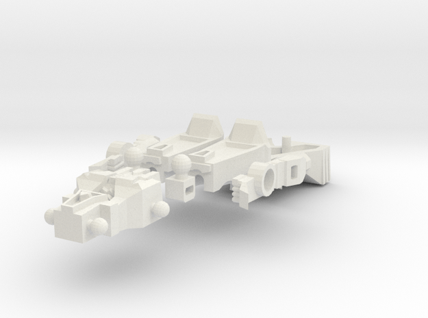 ChromeHead Big Mode in White Natural Versatile Plastic