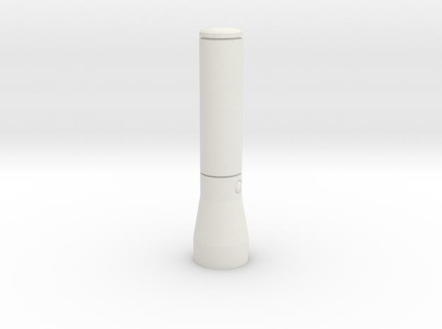 1/10 Scale Maglite Flashlight in White Natural Versatile Plastic