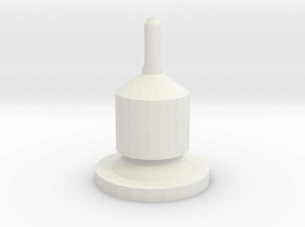 1/10 Scale Wilson 5000 Magnetic CB Antenna Base in White Natural Versatile Plastic
