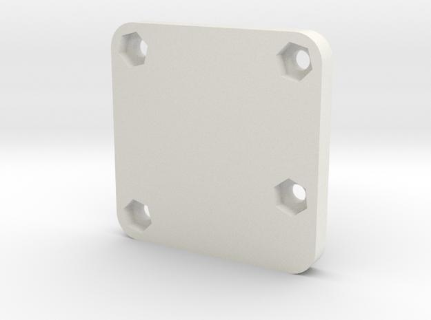 Sparky FC Case - Bottom -Beta in White Natural Versatile Plastic
