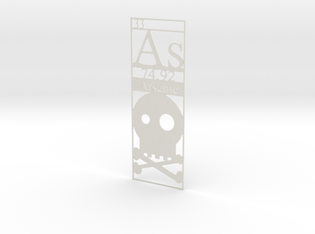 Elemental Bookmark - Arsenic short customization in White Natural Versatile Plastic