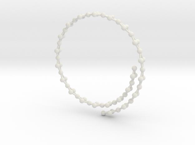 Flexible Frustrated Chain Bracelet in White Natural Versatile Plastic