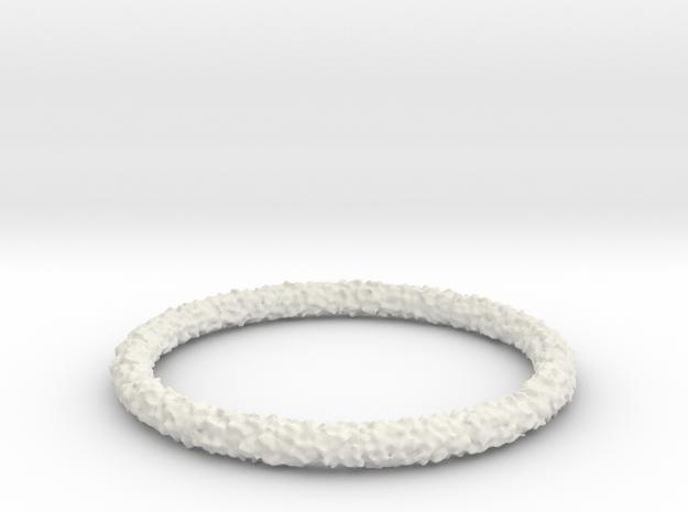 Perlin Bracelet (Large) in White Natural Versatile Plastic