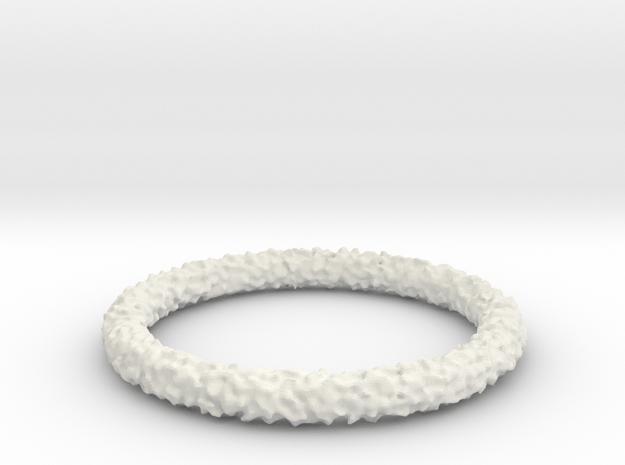 Perlin Bracelet (Medium) in White Natural Versatile Plastic