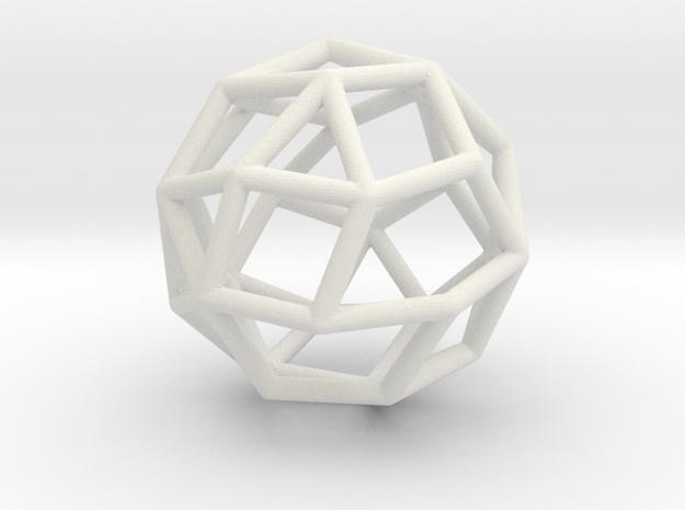 MaxiMin 30 Vertices in White Natural Versatile Plastic
