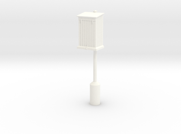 PRR Telephone Box - Extended Base in White Processed Versatile Plastic