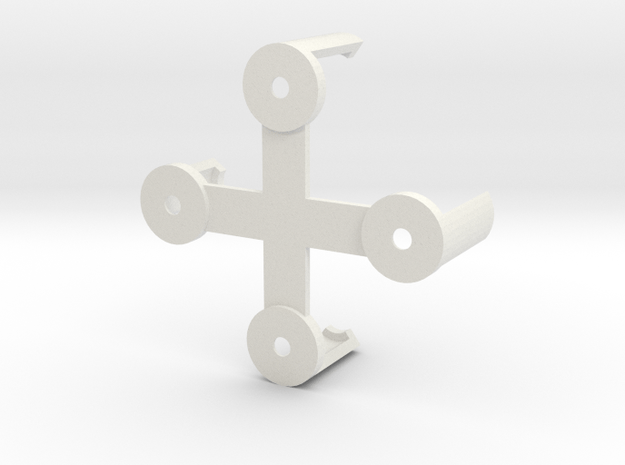 Naze32Rev5 Clip (rightangle pins) -Beta in White Natural Versatile Plastic