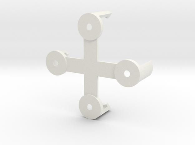 Naze32Rev5 Clip (non-rightangle pins) in White Natural Versatile Plastic
