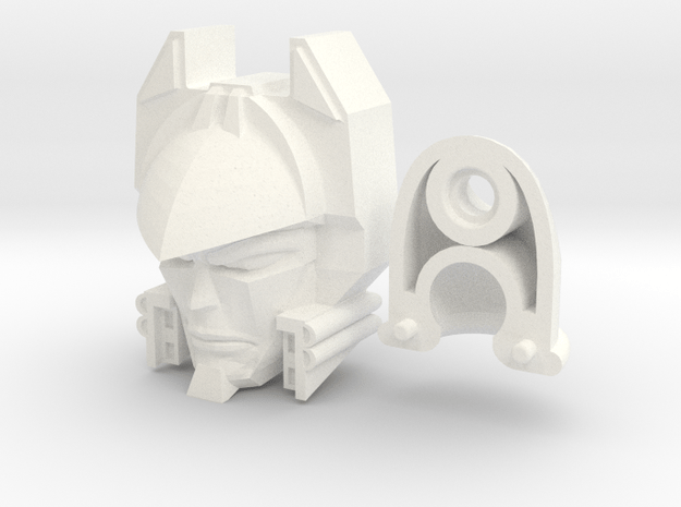Deathsaurus Head (2 Piece) in White Processed Versatile Plastic