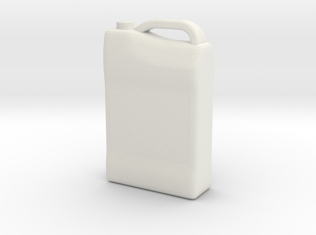 1/10 Scale Antifreeze Container in White Natural Versatile Plastic
