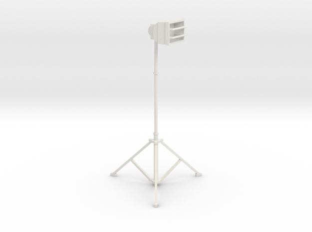 1/10 Scale Tall Work Light 1 in White Natural Versatile Plastic