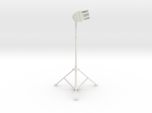 1/10 Scale Tall Work Light 3 in White Natural Versatile Plastic