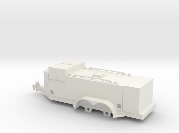 1/64 Fuel Trailer (S Scale) in White Natural Versatile Plastic