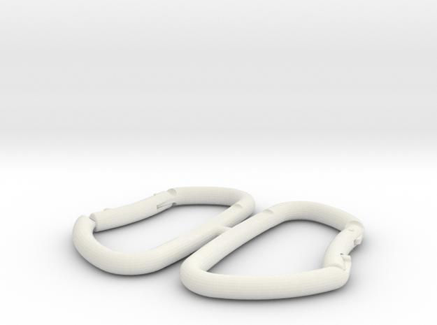 1/10 Scale Carbiner in White Natural Versatile Plastic