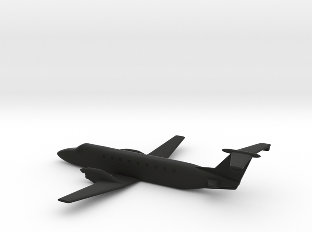 Beechcraft 1900 10cm length in Black Natural Versatile Plastic