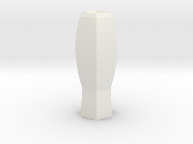 fantasia vase in White Natural Versatile Plastic