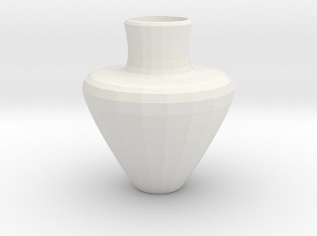 avalon vase in White Natural Versatile Plastic