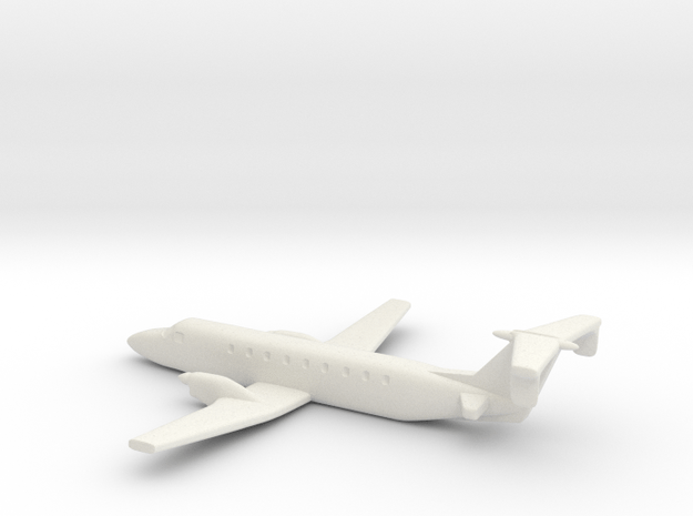 Beechcraft 1900 Scale 1:700 in White Natural Versatile Plastic