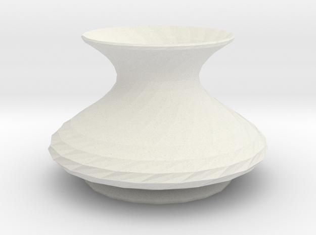elisian vase in White Natural Versatile Plastic