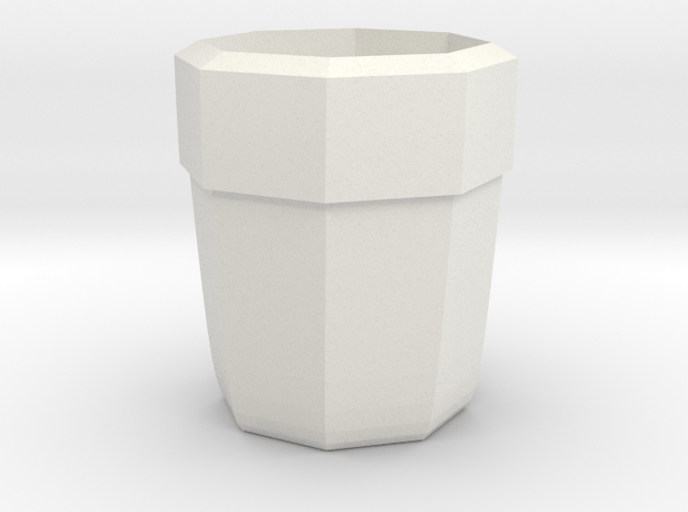 tumbler cup in White Natural Versatile Plastic
