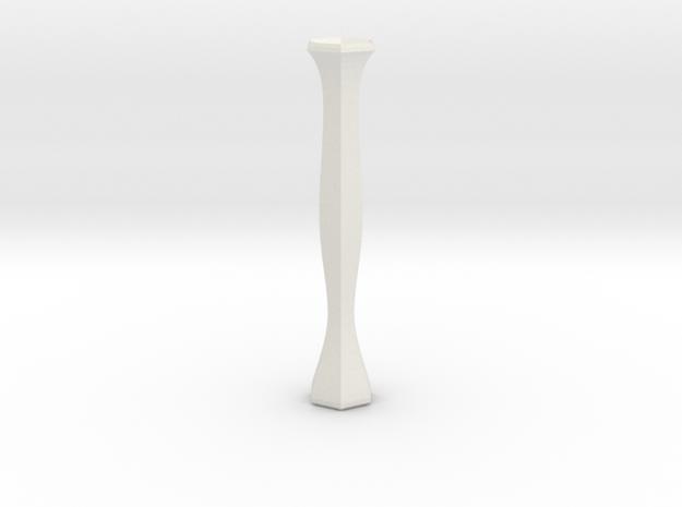 flower tube vase in White Natural Versatile Plastic