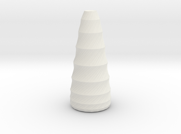 twisted long vase in White Natural Versatile Plastic