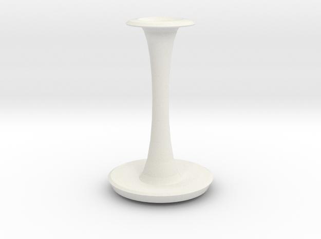 sherlock vase  in White Natural Versatile Plastic