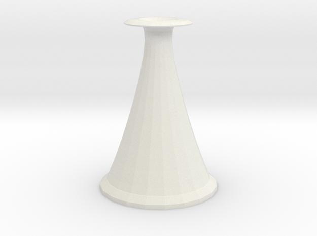 cone vase 2 in White Natural Versatile Plastic