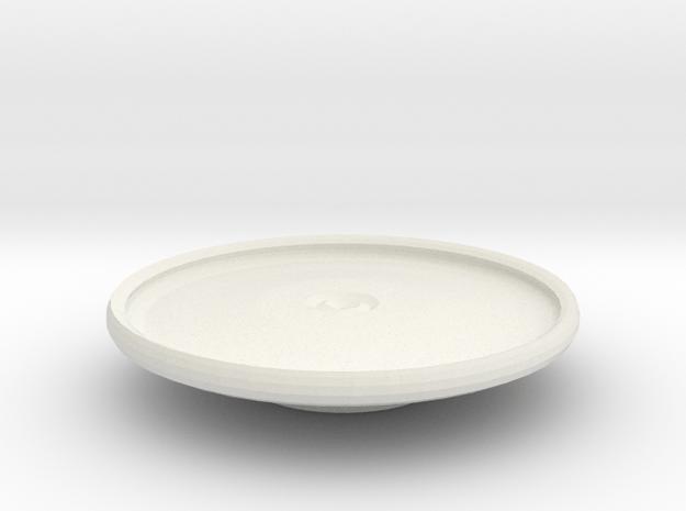 avon platter on stand in White Natural Versatile Plastic