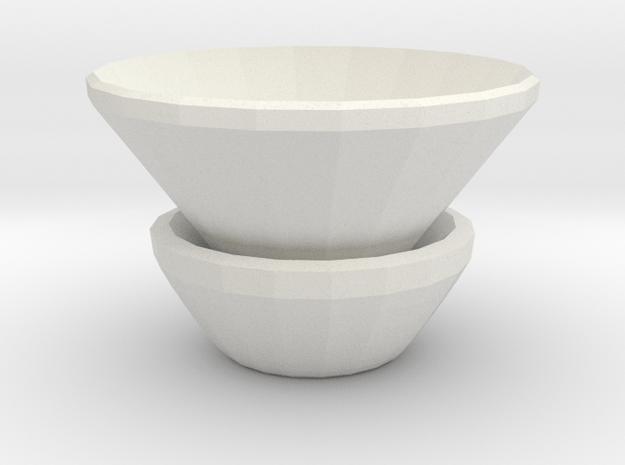 double vase in White Natural Versatile Plastic
